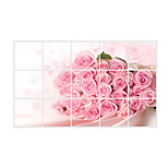 AY3015 Anti-oil Stickers Rose Decals Florals / 3D Wall Stickers Plane Wall Stickers,pvc 45*75cm