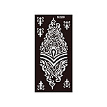 1pc Women Body Art Black Pattern Painting Henna Indian Diy Stencil Temporary Tattoo Sticker S220