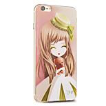 Kakashi fiore serie della principessa pittura TPU custodia morbida per iPhone 6S / 6 / 6S plus / 6 più (loto)