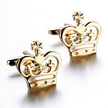 Unisex Fashion Crown Gold Alloy French Shirt Cufflinks (1-Pair)