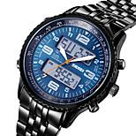 SKMEI ® Men's Sport Wristwatches for Boys Fashion Full Alloy Digital & Quartz Movement Watches Alarm Stopwatch