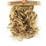 Length Dark Golden Wig 28CM Synthetic Curly High Temperature Wire Reel Contracting Fluffy Ponytail Color 1011