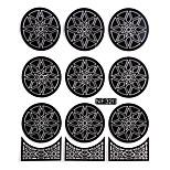Nail Art Template Sticker-(NF320-Black)