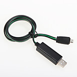 USB 2.0 Luminous Aluminum Cables 100cm
