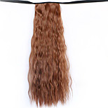 Wig Brown 50CM Water Synthetic High Temperature Wire Hot Corn Horsetail Color 30B