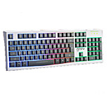 Colorful Lights Mechanical Touch Wired USB Waterproof Laptop Desktop Pro illuminated Computer Keyboards