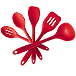 5pcs Silicone Kicthen Cooking Tools Spatula -Cooking Spoon Soup Ladle -Egg Turner Kitchen Accessories