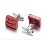 Men's Fashion Red Brick Style Alloy French Shirt Cufflinks (1-Pair)