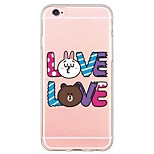 iPhone 6s Plus/6 Plus / iPhone 6s/6 TPU Translucent Cartoon Back Cover