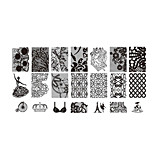 BlueZOO Lace Blue Rectangle Plate Nail Art Stamping (BC-05)