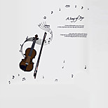 Vintage Creative DIY Violin Note Wall Stickers Fashion Removable Bedroom Wall Decals