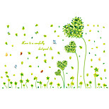 Romance Green Heart Grass Rural Wall Stickers Environmental DIY Bedroom Wall Decals PVC