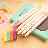 Korea Office Stationery Sweet Candy Colors Diamond Head Erasable Highlighter Marker Color Wave Point