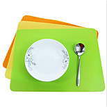 40 * 30cm thick silicone baking mat Western pad heat pad mat 5Pcs