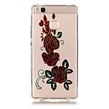 Back Pattern Flower TPU Soft Luxury Bronzing Case Cover For Huawei Huawei P9 / Huawei P9 Lite / Huawei P8 Lite
