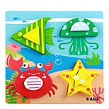 Cartoon Three-Dimensional Puzzle Building Block(Crab)