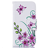 Red Flowers Pattern Card Phone Holster for iPhone 5/5S/SE/6/6S/6 Plus/6S Plus