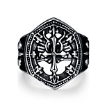 Fashion jewelry Men's / women's ring The ancient Maya Punk Style Vintage cross 316 l steel ring for party GMYR227