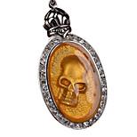 Retro Flame Skull Titanium Necklace Pendant