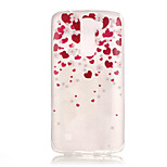 TPU + IMD Material Love Pattern Slim Phone Case for  LG K8/K7/K4/G5