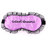 Travel Sleeping Eye Mask Type 0004  Sweet Dreams Satin Fabric Lace