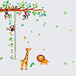 50-150Cm Kids Cartoon Tree Monkey Giraffe Animals Height Stickers Children's Bedroom Wall Stickers PVC Wall Decals