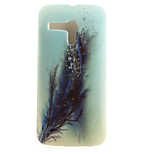 Feathers Painting Pattern TPU Soft Case for Motorola Moto G XT1028/XT1031/XT1032