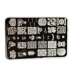 1pcs New Nail Art Stamping Plate Colorful Flower Geometric Image Alphabet Nail Art Beauty Tools UR09-12