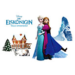 DIY Cartoon Frozen Elsa With Anna Olaf Wall Stickers PVC Removable Children's Bedroom Living Room Wall Decals
