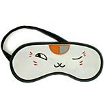 Natsume Yuujinchou Flannel White Cat Wink Sleeping Eye Mask