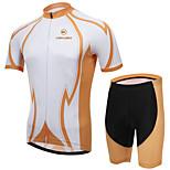 KEIYUEM Vélo/Cyclisme Maillot + Short/Maillot+Cuissard / Ensemble de Vêtements/Tenus Unisexe Manches courtesEtanche / Respirable /