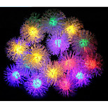 Waterproof 20LED Plush Ball Solar String Light