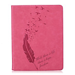Body collant portefeuille / Support de Carte / Other Plumes Cuir PU Doux Embossed leather Couverture de cas pour Apple iPad 4/3/2
