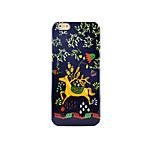 arrière Glow in the Dark Animal PC Dur Pastoralism、Hand Painting Animal Couverture de cas pour AppleiPhone 6s Plus/6 Plus / iPhone 6s/6 /