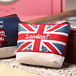 London Textile Cartoon Change Purse