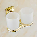 Gold Finish Brass Material Toothbrush Holder