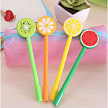Korea Stationery Cute Fruit Lollipops Black Gel Pen Creative Pen 0.5Mm Needle