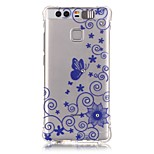 Blue Butterfly Rhinestone Drop Resistance Calls Flashing TPU Soft Case Phone Case for Huawei P9/Huawei Honor 5X