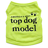 Katzen / Hunde T-shirt Grün / Blau / Rosa / Rose Sommer Blumen / Pflanzen Modisch-Pething®, Dog Clothes / Dog Clothing