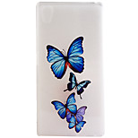 Butterfly Pattern Frosted TPU Material Phone Case for Sony Xperia Z5 Premium/Z5