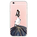 de volta Ultra Fino / Translúcido Lady sexy TPU Macio Ultra-thin Sof  Back Cover Case Capa Para AppleiPhone 6s Plus/6 Plus / iPhone 6s/6
