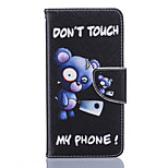 Blue Bear Pattern Card Phone Holster for LG K7/K8/K10