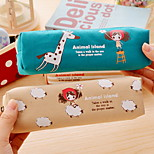 Girl Textile Cartoon Stationery Bag