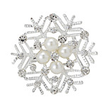 Boutique Pearl Christms Snow Flower Wedding Brooch for Women