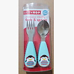 Stainless Steel  Baby Fork and Spoon(penguin)