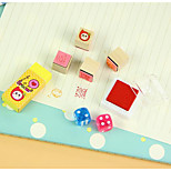 Korea Stationery Candy Multi-colored Inks Lucky Dice Stamp Album Diary DIY Combination Partner