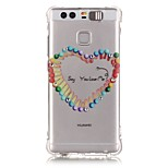 Love Match Rhinestone Drop Resistance Calls Flashing TPU Soft Case Phone Case for Huawei P9/Huawei Honor 5X