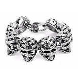 Egyptian Tipical Fashion Jewelry Men's 316 Stainless Steel Mummy Charm Bracelets Bangles Best Festival Gift for Brothers