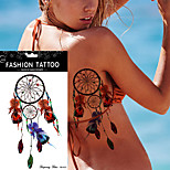 5Pcs Dreamcatcher Tattoo Peacock Feather Temporary Sticker  Dream Catcher Body Art Waterproof Tattoo Design