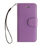 Luxury  Litchi Grain Wallet Stand Shell Cover PU Leather With Cash Card Holder Phone Case For iphone 5/5S /SE